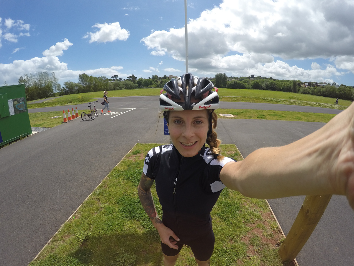 juliet elliott at Torbay Velopark after the FTP Test