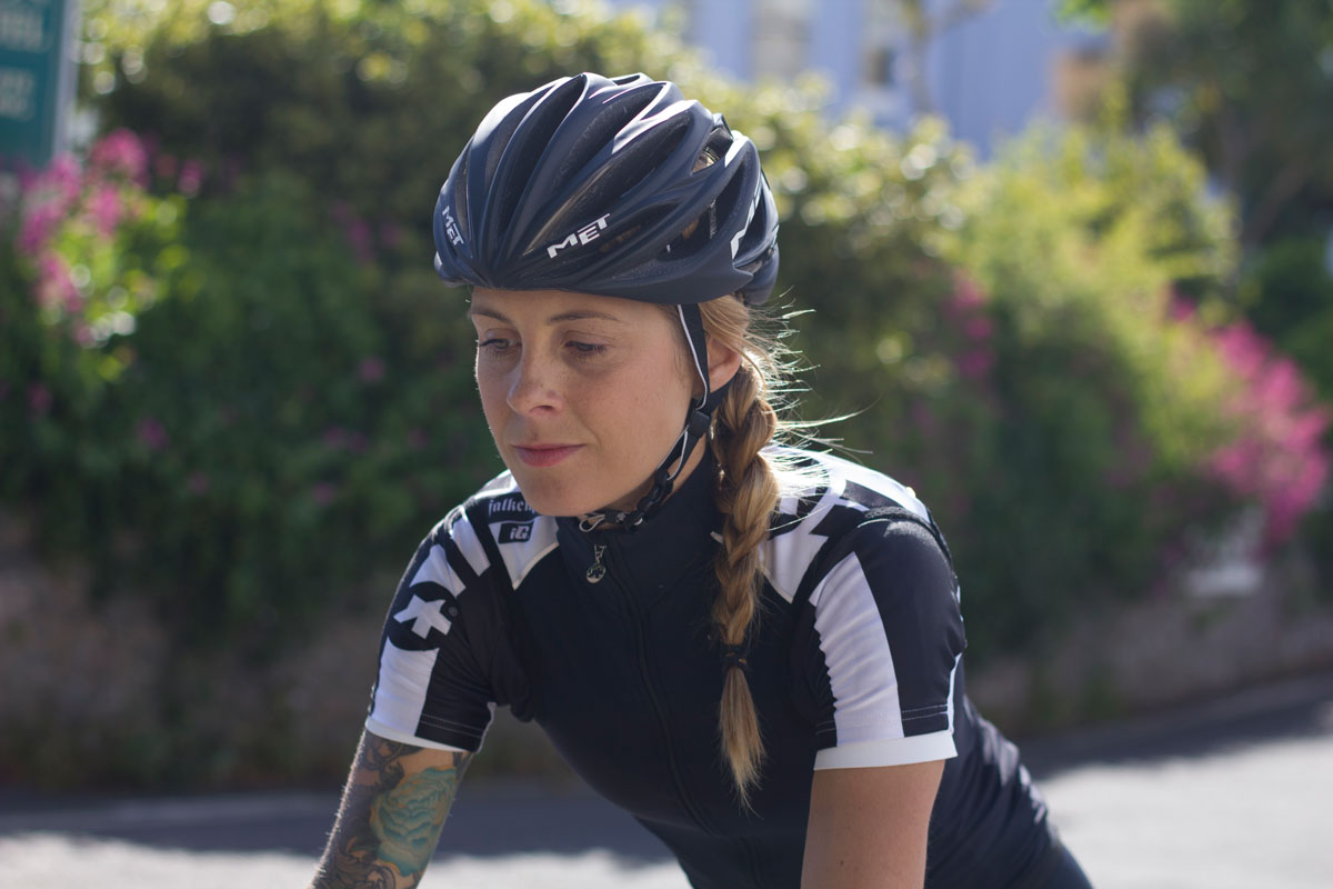 Juliet Elliott Fixed Gear Portrait Cycling Active