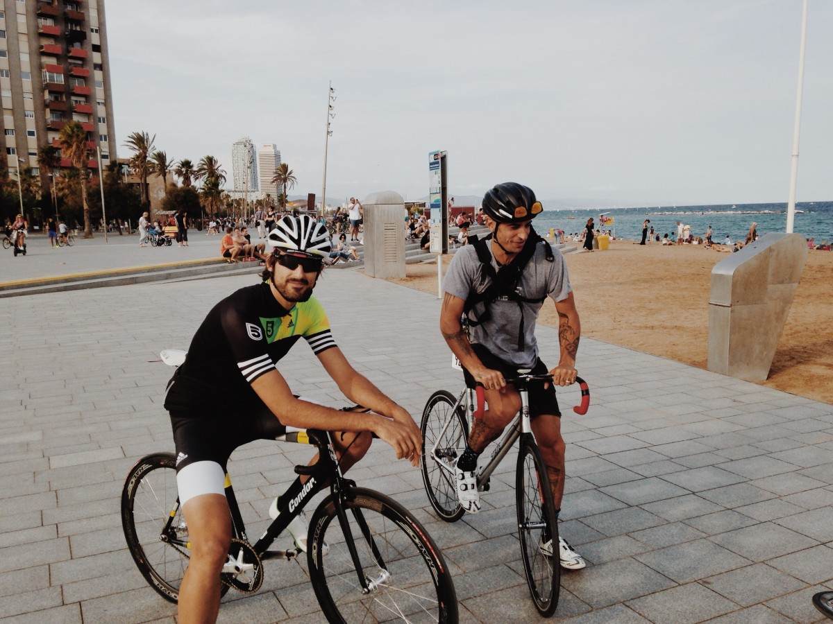 Barceloneta Beach Red Hook Crit Barcelona Crit Week Alex Blomley & Dave Noakes