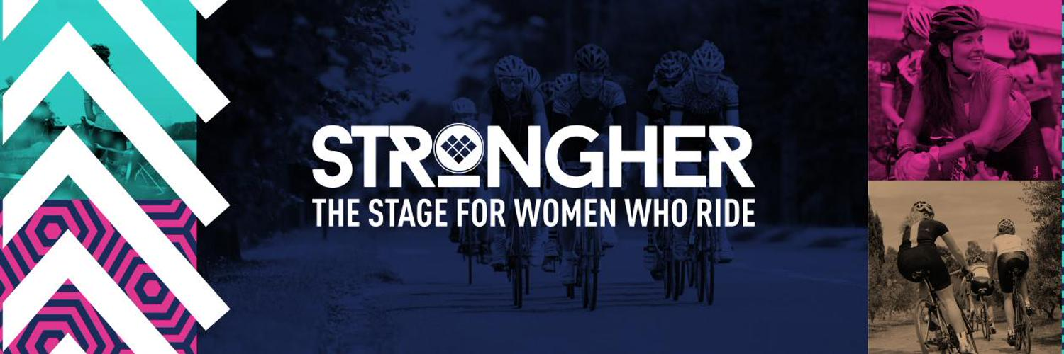 strongher logo womens cycling initiative