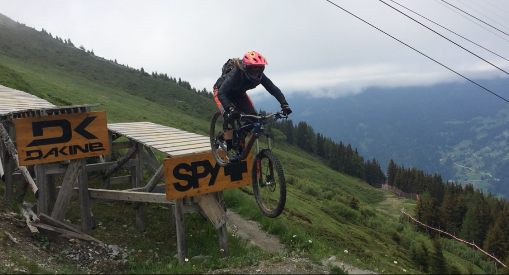 Ladder Drop Verbier Bike park